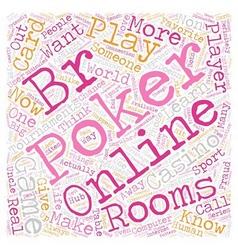 online poker rooms3 1 text background wordcloud vector image