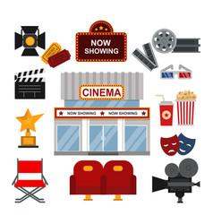 Cinema symbols vector