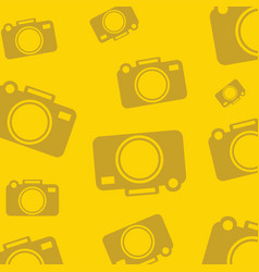 Yellow background with silhouette icons for photo vector