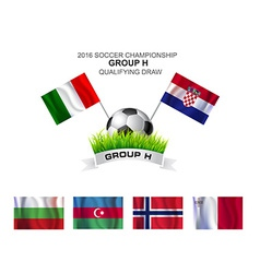 2016 soccer championship group h qualifying draw vector