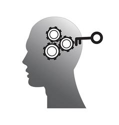 Head brain vector image