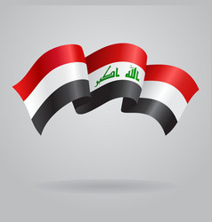 Iraqi waving flag vector