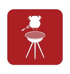 Barbecue grill chicken icon vector