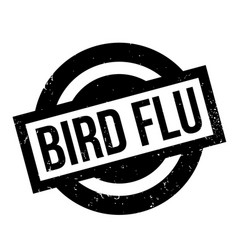 bird flu rubber stamp vector image vector image