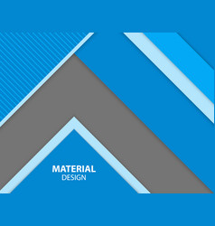 Blue color material design background vector