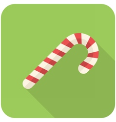 Candy cane icon vector