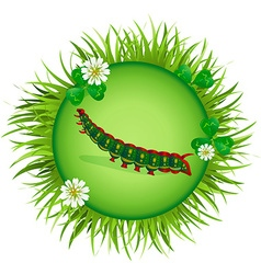 caterpillar in a clearing 2 vector image vector image