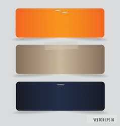 Collection of various note papers ready for your vector image vector image