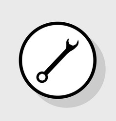 Crossed wrenches sign flat black icon in vector