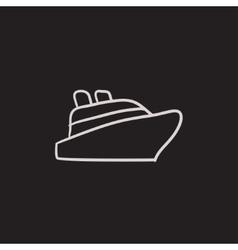 Cruise ship sketch icon vector image