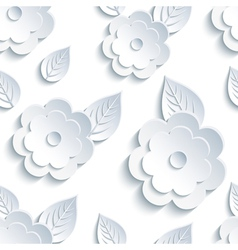 Decorative seamless pattern with flowers and leaf vector