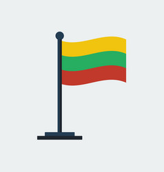 flag of lithuania flag stand vector image vector image