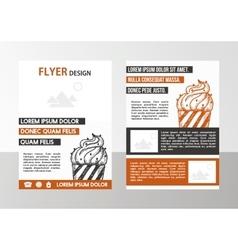 Flyer vector
