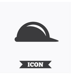 Hard hat sign icon construction helmet symbol vector