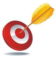 icon target arrow 1 vector image vector image