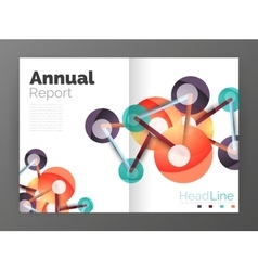 Lines and circles modern abstract business annual vector image