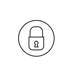 Lock line icon mobile sign and security vector