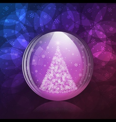 Luminescent snow globe vector image vector image