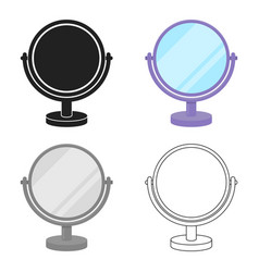 Mirror icon in cartoon style isolated on white vector