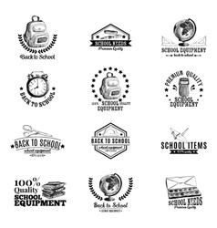 set of labels badges with school hand vector image vector image
