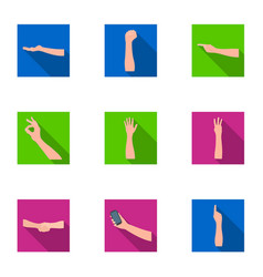 Significance of gestures flat icons in set vector