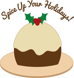 Spice Up Holidays vector image