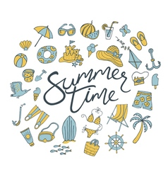 Summer time round vector