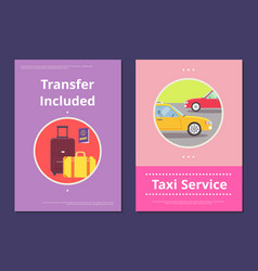 taxi service in hotel with included transfer vector image vector image