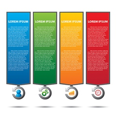 text box with business strategy diagram vector image vector image
