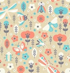 Vintage Bug Pattern vector image