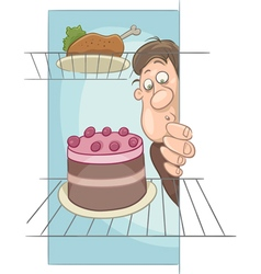 Hungry man on diet cartoon vector