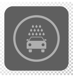 Car wash rounded square button vector