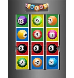Fruit machine and jackpot background vector