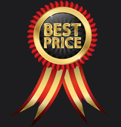 Best price golden label vector image