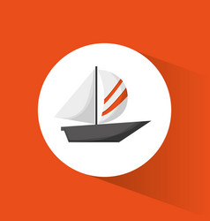 Sailing boat transport recreational vector