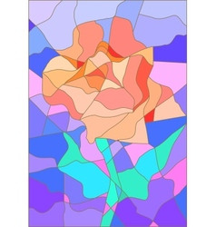 Stained glass rose flower for your design vector
