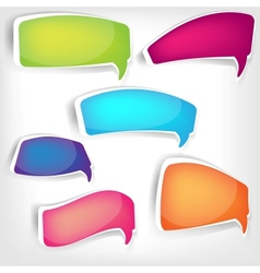Paper origami speech bubble vector image