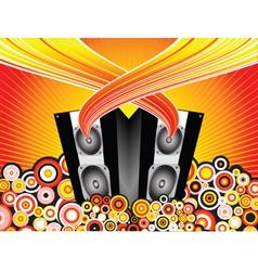 music burst vector image
