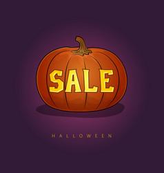 Halloween sale Royalty Free Vector Image - VectorStock
