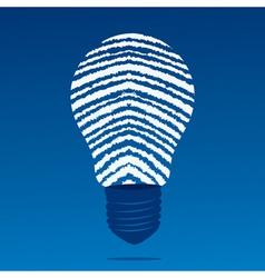 Finger print bulb vector