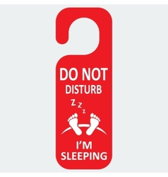 Hotel tag do not disturb with sleeping icon vector