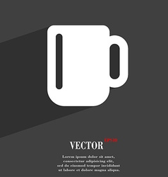 Cup coffee or tea icon symbol flat modern web vector
