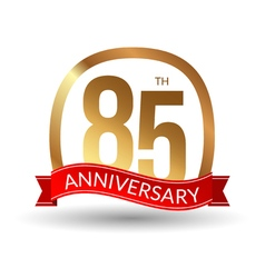 85 years anniversary experience gold label with vector
