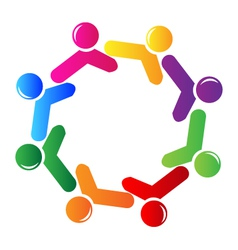 Teamwork social networking logo vector