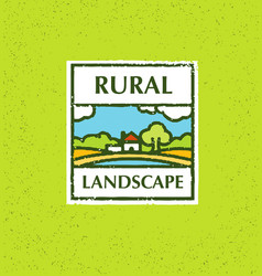 agriculture and farming agribusiness rural vector image