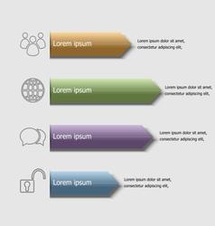 Arrow badge infographic design template vector image
