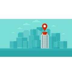 Background of modern city with map pointer vector image vector image
