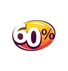 bold sixty percent vector image vector image