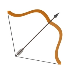 Bow and arrows vector image