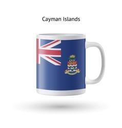 Cayman islands flag souvenir mug on white vector